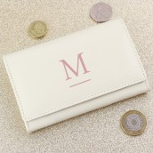 Personalised Cream Initial Purse