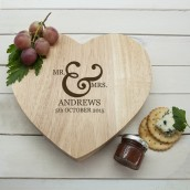 Personalised Romantic Cheese Board
