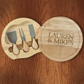 Engraved Couples Cheese Board