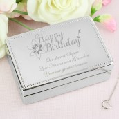 Engraved Happy Birthday Jewellery Box