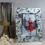 Personalised Floral Glass Photo Frame