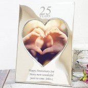 Personalised Love Heart Photo Frame - Years