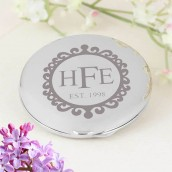 Engraved Vintage Frame Compact Mirror