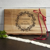 Engraved Christmas Wreath Serving Board