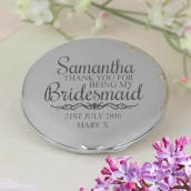 Engraved Thank you Compact Mirror