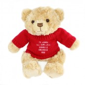 Personalised Tatty Teddy Bear - Red Jumper