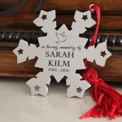 Engraved Memorial Snowflake Decoration