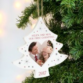 Engraved Christmas Tree Hanging Photo Frame