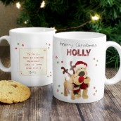 Engraved Boofle Reindeer Design Mug