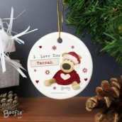 Engraved Ceramic Boofle Christmas Decoration