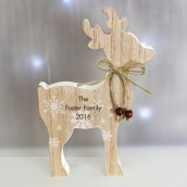 Engraved Wooden Reindeer