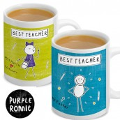 Personalised Purple Ronnie Teacher Mug