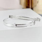 Engraved Expanding Sterling Silver Childs Bracelet