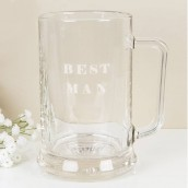 Best Man Glass Tankard