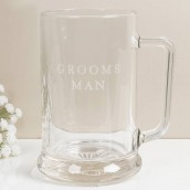 Grooms Man Glass Tankard