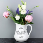 Personalised Wedding Ceramic Flower Jug