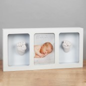 4  x 6    Bambino White Photo Frame & Casting Kit