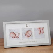4  x 4    Bambino Welcome to The World Triple Photo Frame