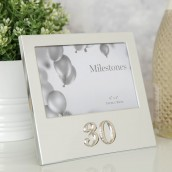 6  x 4    Milestones Birthday Frame with 3D Number   30