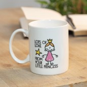 World's Best Daddy From Your Little Princess Stoneware Mug