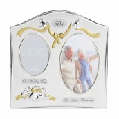 Double Aperture 50th Anniversary Photo Frame