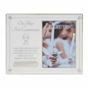 4  x 6    Your First Communion Frame with Engraving Plate