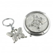 Sophia Compact & Keyring Set   Butterfly