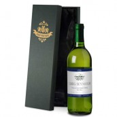 Personalised Blue White Wine