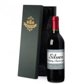 Personalised 25th Anniversary Red Wine