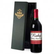 Personalised 40th Anniversary Red Wine