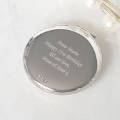 Engraved Crystal Trio Compact Mirror