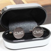 Personalised Silver Round Cufflinks