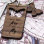 Personalised Butterfly Wooden Keyring - Image 2